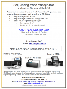 Sequencing Made Manageable: Application Seminar at the BRC